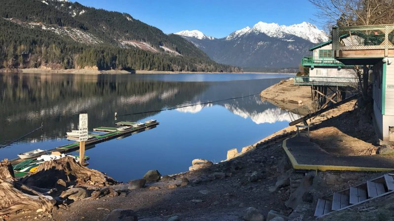 Lake Cushman in the Winter