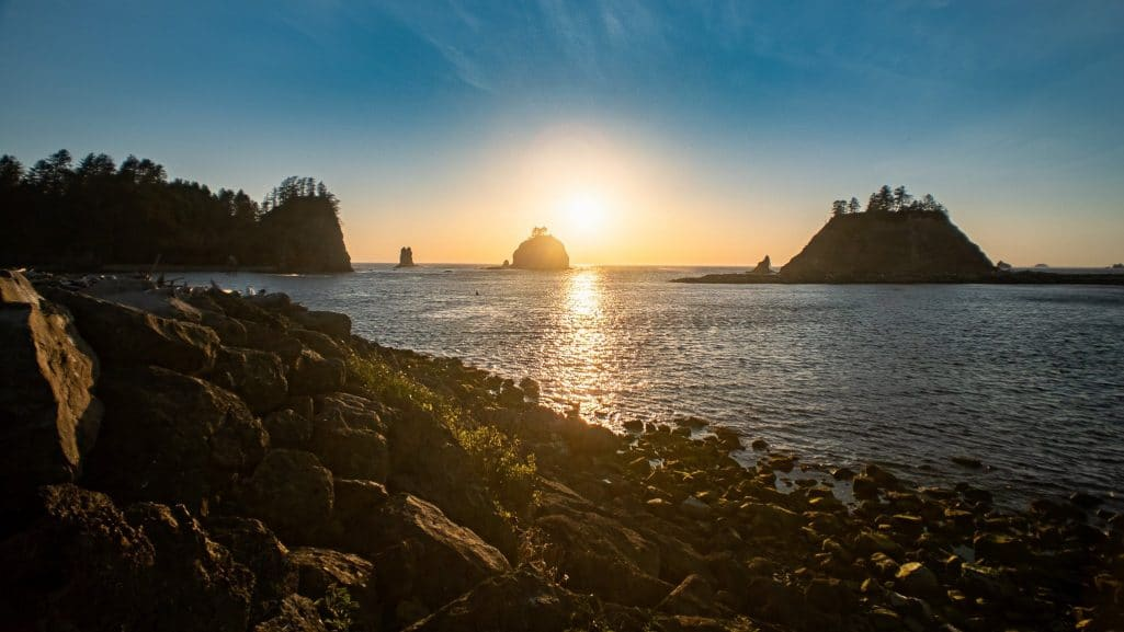 Sunset on Quillayute River during Halibut opener