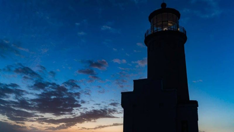 A Lonely Nightfall at North Head Lighthouse