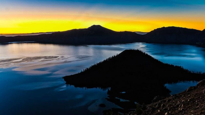 Golden Rim of Crater Lake