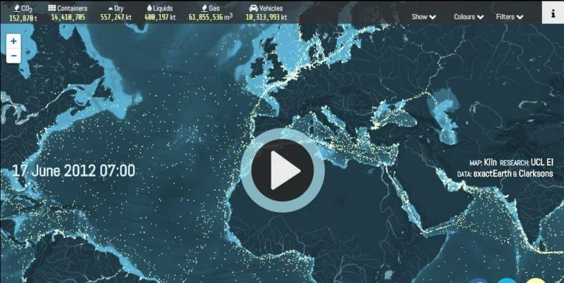 Track Carbon Emissions of Cargo Ships